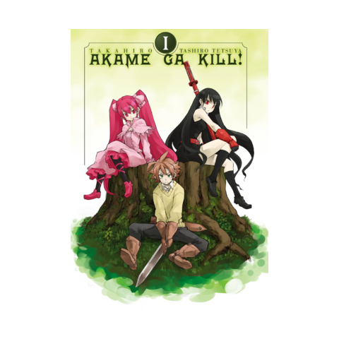 Extra volume 1 manga cover featuring Mine, Tatsumi and Akame