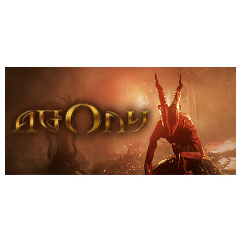 <i>Agony's</i> Steam header with the logo's early design.