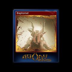 Baphomet in a Steam card.