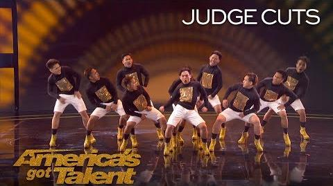 Junior New System Male Dance Group Does Backflips In 6 Inch Stilettos - America's Got Talent 2018