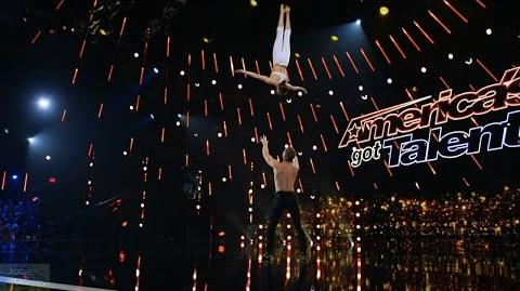 America's Got Talent 2017 Philippe & Marie Lee Amazing Acrobats Full Judge Cuts Clip S11E08