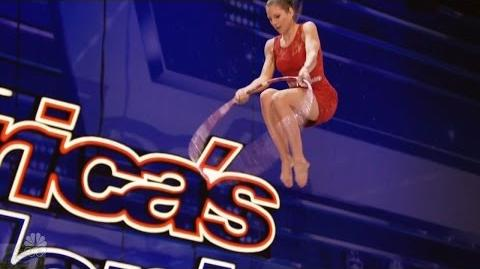 America's Got Talent 2016 Russian Bar Trio Aerial Acrobat Full Audition Clip S11E03