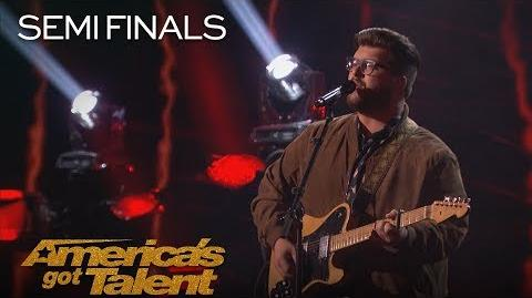 "Noah Guthrie Musician Puts Cool Twist On ""I Will Always Love You"" - America's Got Talent 2018-1"