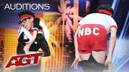 Contortionist Jonathan Burns Did WHAT With A Toilet Seat?! - America's Got Talent 2019