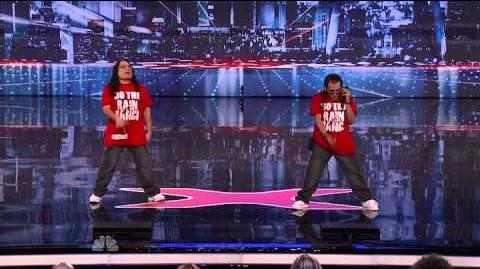Lil Mike and Funny Bone - Do The Rain Dance - America's Got Talent 2013 Season 8 Week 5 Auditions