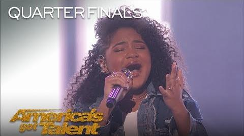 "Amanda Mena Teen Sings Pink's ""What About Us"" Bilingually - America's Got Talent 2018"