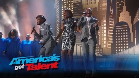 The CraigLewis Band Duo Performs with Yolanda Adams and Choir - America's Got Talent 2015 Finale