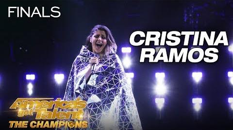 "Cristina Ramos This Singer Will SURPRISE You With ""Call Me"" - America's Got Talent The Champions"