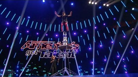 America's Got Talent 2017 Axel Perez Balancing Daredevil Full Judge Cuts Clip S11E08