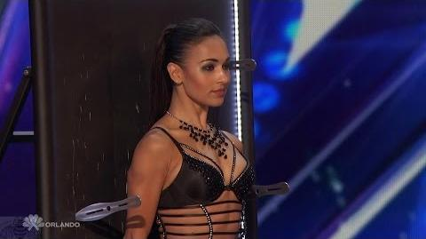 Americas Got Talent 2016 Alfred & Anna Silve Knife Throwing Act Full Audition Clip TonyPatrony