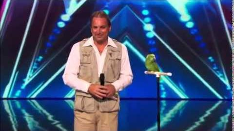 America's Got Talent 2014 Joe The Bird Man & Tika Auditions 6