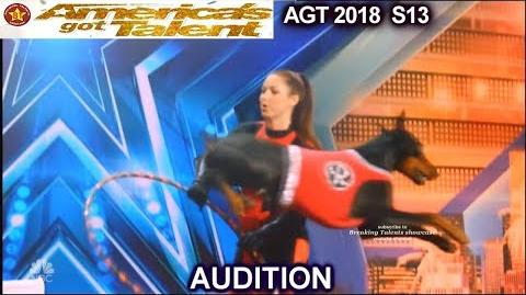 Shannon and Reckon Dog Act America's Got Talent 2018 Audition AGT