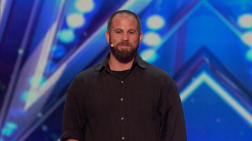 Jon Dorenbos on the stage of America's Got Talent