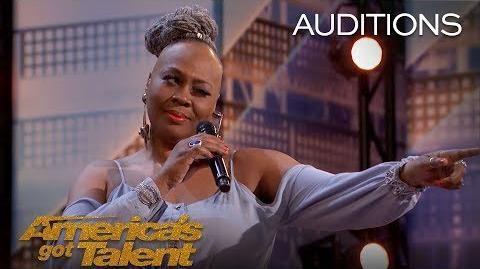 Ms. Trysh Singer Is Ready To Be Simon Cowell's Woman - America's Got Talent 2018