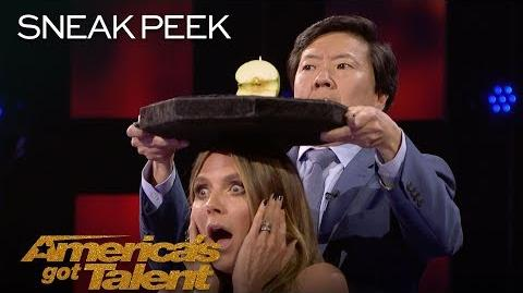 LEAK Aaron Crow Dangerously Shoots Apple Off Heidi Klum's Head - America's Got Talent 2018