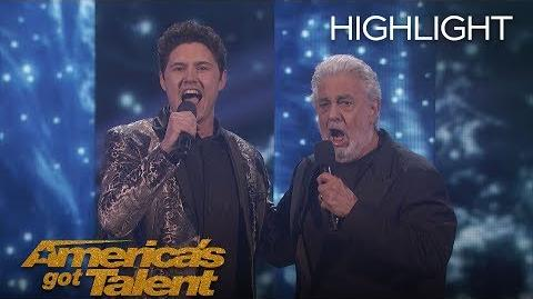 Daniel Emmet and Plácido Domingo Perform A Remarkable Duet - America's Got Talent 2018