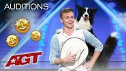 WOW! Adorable Dog Performs AMAZING Tricks With Trainer - America's Got Talent 2019