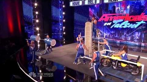 Omega Force Strength Team - America's Got Talent 2013 Season 8 Week 3 Auditions
