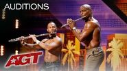 Sexy! Shirtless Flute Player Duets With Terry Crews! - America's Got Talent 2019