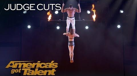 Duo Transcend Dangerous Trapeze Act Goes Wrong - America's Got Talent 2018