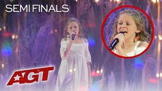 "Kid Singer Ansley Burns WOWS Judges With ""Cry Pretty"" By Carrie Underwood - America's Got Talent"