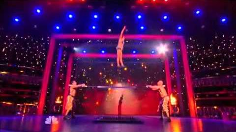 Sandou Trio Russian Bar - America's Got Talent - Hollywood Live