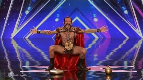 Americas Got Talent 2016 Mika Nieminen Carnival Act OUCH! Full Audition Clip TonyPatrony