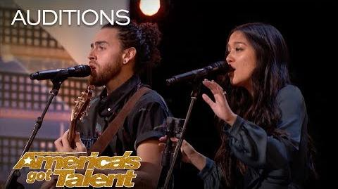 Us The Duo Married Couple Perform Original, 'No Matter Where You Are' - America's Got Talent 2018