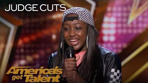 Flau'jae 14-Year-Old Rapper Earns Golden Buzzer From Chris Hardwick - America's Got Talent 2018