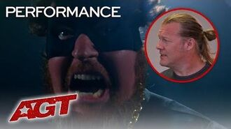 Pro-Wrestler Chris Jericho and Ryan Niemiller THROW DOWN In A RING! - America's Got Talent 2019