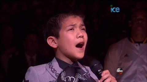 10 Year Old Sebastien De La Cruz Sings National Anthem @ Game 3 of NBA Finals LIVE 6-11-13