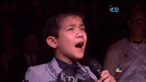 10 Year Old Sebastien De La Cruz Sings National Anthem @ Game 3 of NBA Finals LIVE 6-11-13