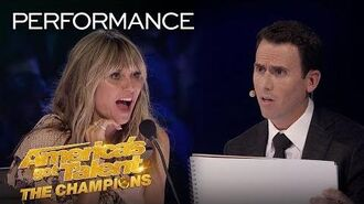 Mentalist Oz Pearlman FREAKS OUT The Judges With Mind Reading! - America's Got Talent The Champions