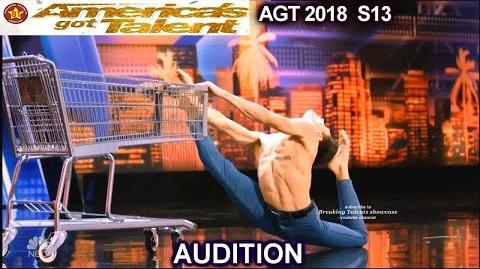 David Pereira Contortionist Dancer Mel Thought was a Chicken America's Got Talent 2018 Audition AGT-1