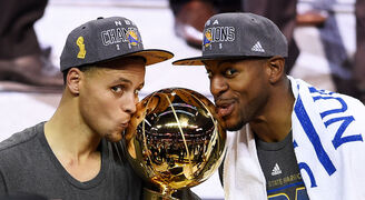Stephen Curry and Andre Iguodala 2015 NBA Champions