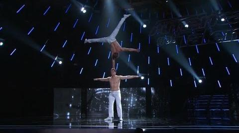 America's Got Talent 2015 S10E13 Judge Cuts - Duo Vladimir Strength Acrobats