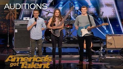 We Three Family Band Performs Song Tribute For Mother With Cancer - America's Got Talent 2018
