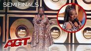 Comic Jackie Fabulous Tells HILARIOUS Jokes About Weight Loss And Dating - America's Got Talent 2019