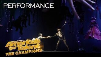 Freckled Sky Creates A STUNNING Story With Projections & Dance - America's Got Talent The Champions