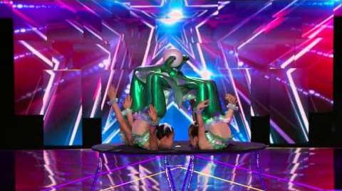 America's Got Talent S09E09 Semi-Final Kids Variety Acts Byamba's Contortion Girls