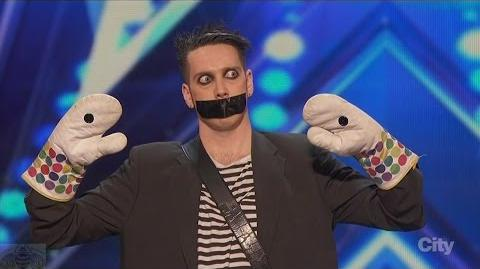 America's Got Talent 2016 Tape Face Incredibly Inventive Comedy Act Full Clip S11E01