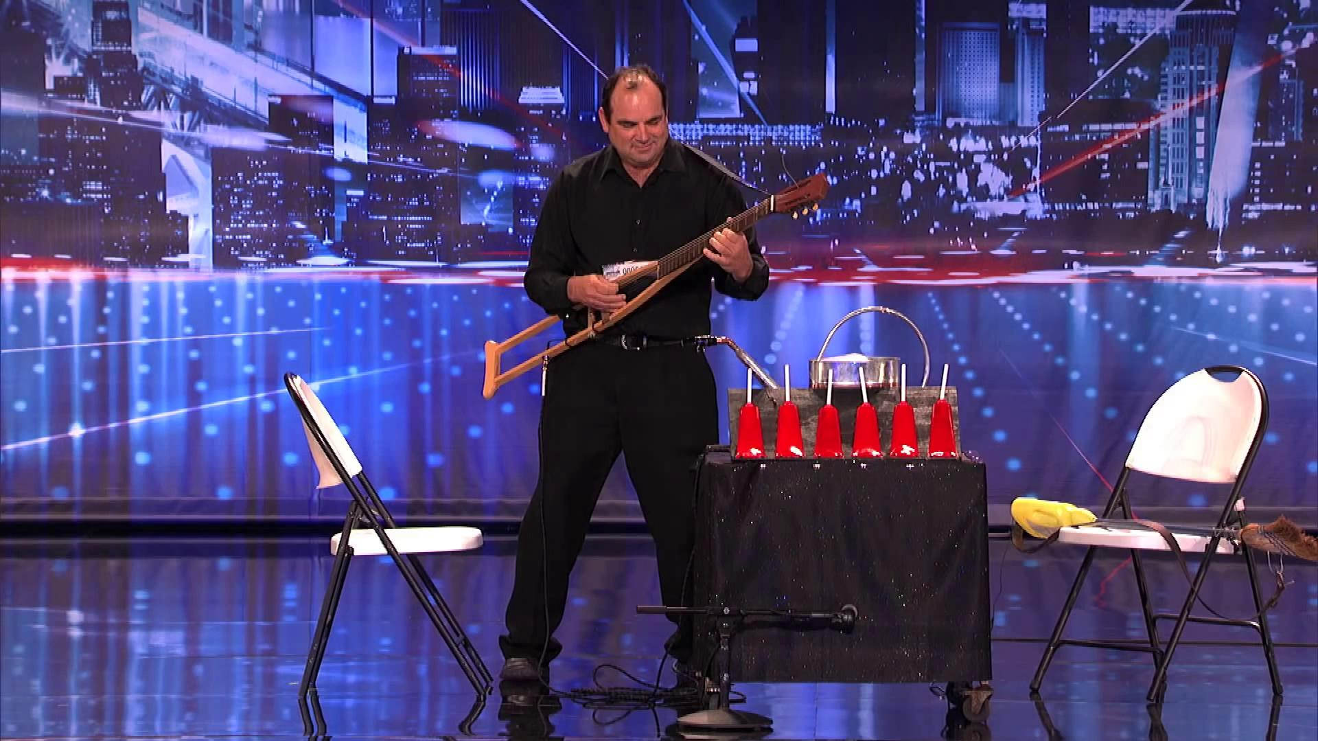 America's Got Talent 2013 - Season 8 - 105 - Abel - Musician Plays Instruments Made Out of Brooms and Crutches
