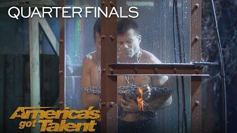 Lord Nil Man Underwater Struggles To Escape To Save Fiance - America's Got Talent 2018