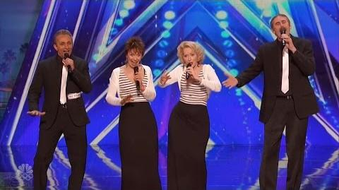 America's Got Talent 2016 Just Us Jazzy Vocal Quartet Bombs Full Audition Clip S11E06