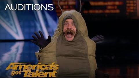 Sethward Comedian Caterpillar Flashes Judges - America's Got Talent 2018