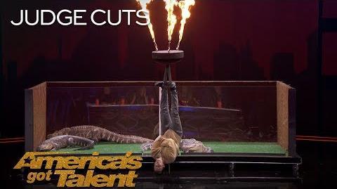 Lord Nil Nearly Eaten Alive By Alligators In Dangerous Stunt - America's Got Talent 2018