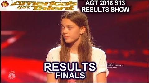 Results Top 5 Michael Ketterer Courtney Hadwin Vicki Samuel Finale America's Got Talent 2018 AGT