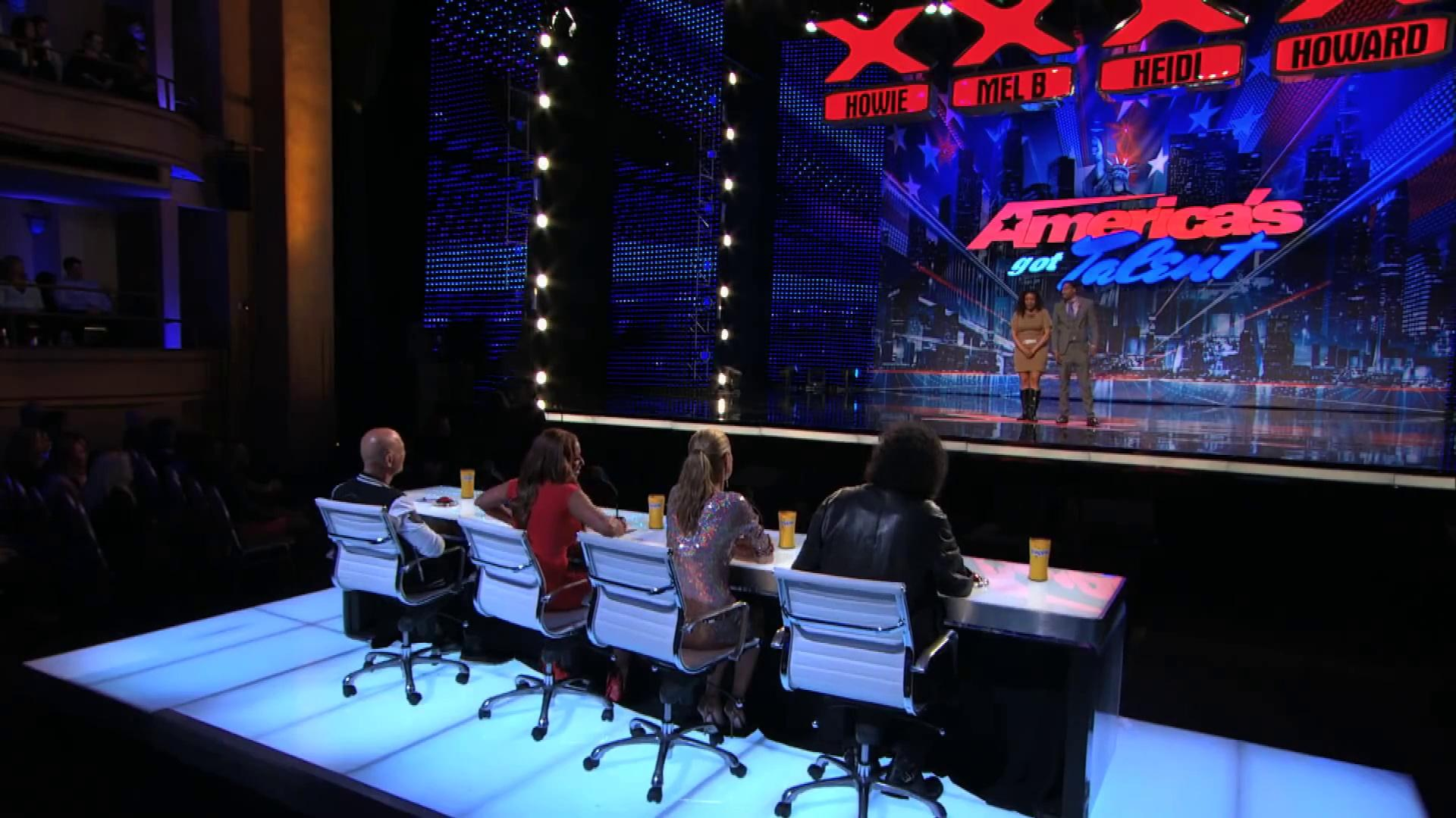 America's Got Talent 2013 - Season 8 - 088 - Secrete Emotion - Poetry Act Gets Nick Cannon to Grind on Her