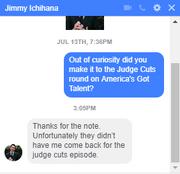 Jimmy ichihana message