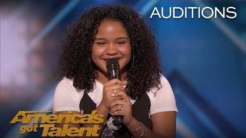 Amanda Mena The 15-Year-Old Earns Golden Buzzer From Mel B - America's Got Talent 2018